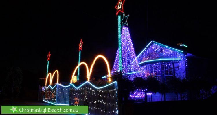 Christmas Light display at 47 Gordon Grove, Preston