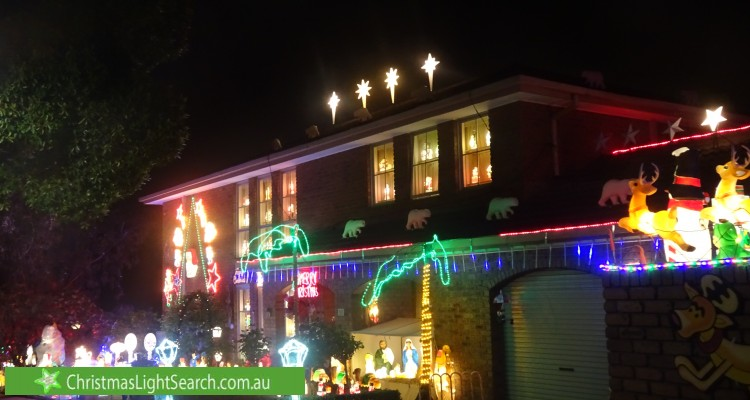 Christmas Light display at Pushkin Court, Doncaster East