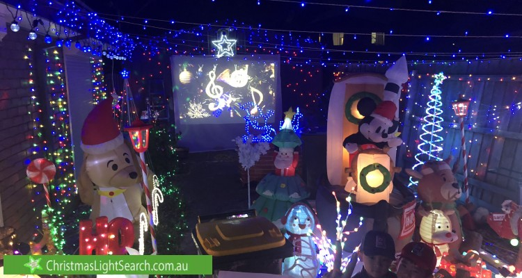 Christmas Light display at 1 Wilson Crescent, Hoppers Crossing