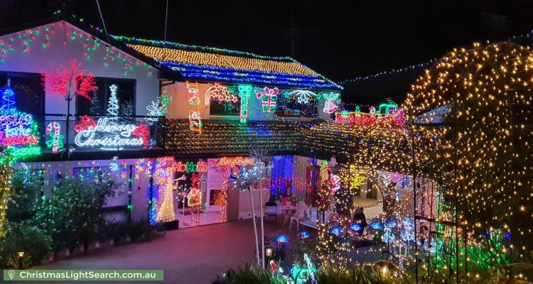 Christmas Light display at 136 Excelsior Avenue, Castle Hill