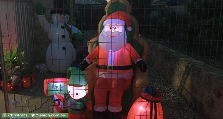 Christmas Light display at 17 Delma View, Gungahlin