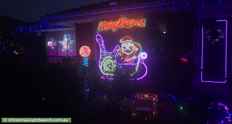 Christmas Light display at 21 Stockman Place, Walkley Heights
