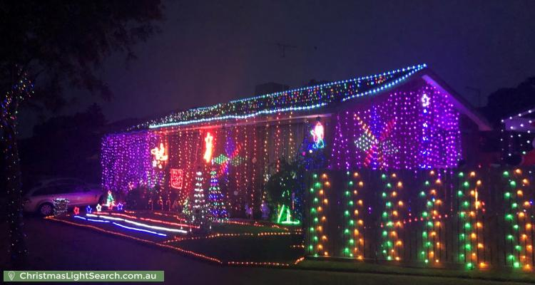 Christmas Light display at 61 Whalley Drive, Wheelers Hill