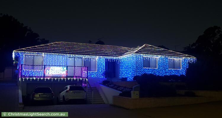 Christmas Light display at 14 Merriman Crescent, MacArthur