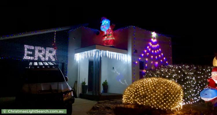 Christmas Light display at 19 Deucem Smith Street, Bonner